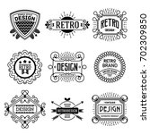 simple mono lines logos... | Shutterstock .eps vector #702309850
