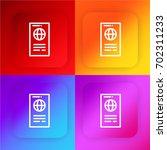 passport four color gradient...