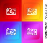 camera four color gradient app...