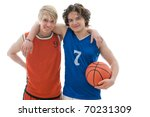 basketball players isolated on... | Shutterstock . vector #70231309