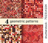 set of four seamless geometric... | Shutterstock .eps vector #702314104