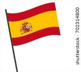 flag of spain   spain flag... | Shutterstock .eps vector #702314800