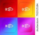 fish four color gradient app...