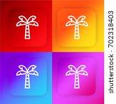 palm tree four color gradient...