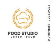 food studio vector logo. food... | Shutterstock .eps vector #702319216