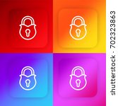 padlock four color gradient app ...