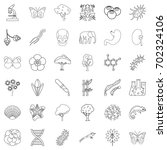 bacteria icons set. outline... | Shutterstock .eps vector #702324106