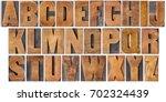 complete english alphabet   set ... | Shutterstock . vector #702324439