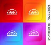 protractor four color gradient...