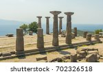 ruins of the temple of athena... | Shutterstock . vector #702326518