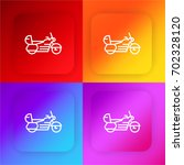 motorbike four color gradient...