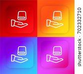 towel four color gradient app...