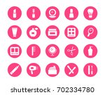 cosmetics circular icons set | Shutterstock .eps vector #702334780