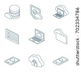 cloud computing isometric icons ... | Shutterstock .eps vector #702334786