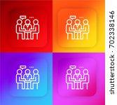 meeting four color gradient app ...