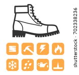 safety worker shoes   boots and ... | Shutterstock .eps vector #702338236