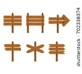 set of flat style wooden...   Shutterstock .eps vector #702338374