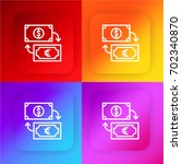 currency exchange four color...
