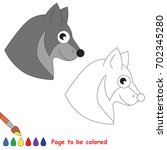 wolf head to be colored  the... | Shutterstock .eps vector #702345280