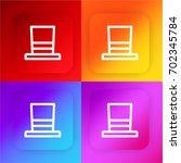 hat four color gradient app...
