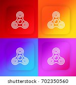 spinner four color gradient app ...