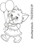 coloring page outline of... | Shutterstock .eps vector #702353119