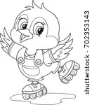 coloring page outline of... | Shutterstock .eps vector #702353143