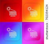 solar panel four color gradient ...