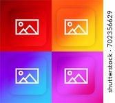 postcard four color gradient...