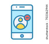 mobile contact remove icon