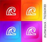 wave four color gradient app...