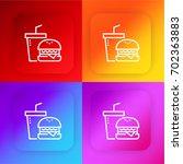 fast food four color gradient...