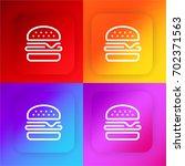 burger four color gradient app...