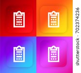 survey four color gradient app... | Shutterstock .eps vector #702374236