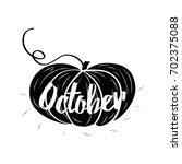 hand sketched typographic...   Shutterstock .eps vector #702375088