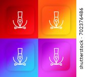vector four color gradient app...