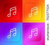 music four color gradient app...