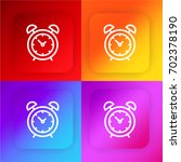 alarm clock four color gradient ...