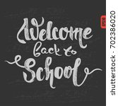 "hand drawing lettering ""welcome ... 
