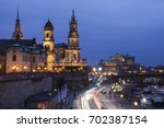 dresden panorama at evening.... | Shutterstock . vector #702387154