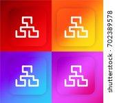 sitemap four color gradient app ...