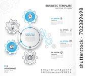 infographics elements diagram... | Shutterstock .eps vector #702389698