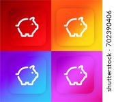 piggy bank four color gradient...