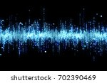 blue high tech waveform... | Shutterstock . vector #702390469