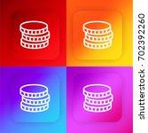 coin four color gradient app...