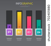 collection of infographic... | Shutterstock .eps vector #702405880