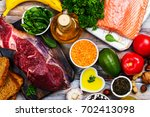 healthy food concept. low... | Shutterstock . vector #702413098