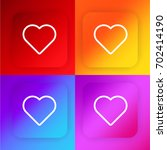 heart four color gradient app...