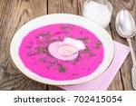 rural dinner beetroot soup with