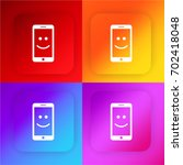 smartphone with a smile four...